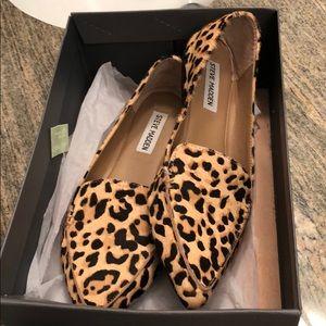 Steve Madden Frather Loafer -Black/Tan Cheetah 🐆
